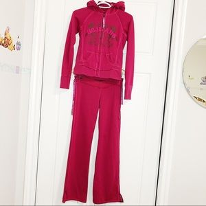 Urban behavior 2 piece tracksuit hoodie sportswear
